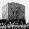 F0722 <br /> Een afbeelding van de Ruïne van Teylingen. Foto: 1937.