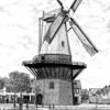 F1627f <br /> Een pentekening van de molen van Speelman, vroeger De Nijverheid. De molen is gebouwd in 1846, maar in 1869 brandde de houten bovenbouw af door blikseminslag. Deze is in hetzelfde jaar weer opgebouwd. Omstreeks 1895 werd de bovenbouw verwijderd en kreeg de molenstomp een functie in het bollenbedrijf van C.J. Speelman. Sinds 1993 eigendom van de Stichting De Molen van Sassenheim.