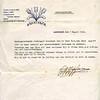 F2106a<br /> Een getuigschrift van Anton Nijssen & Zonen te Santpoort voor M.H. van Dorp.