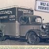 F0727 <br /> Expeditie- en verhuisbedrijf annex meubelopslag Van Leeuwen & Zn., uitgegeven ter gelegenheid van het 80-jarig bestaan van de zaak.  Dit bedrijf stond vroeger ook wel bekend onder de naam Bode van Leeuwen. Foto: jaren '50/'60.