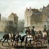 F1882 <br /> Geromantiseerde afbeelding van het slot Teylingen in vroegere glorie uit het boek Merkwaardige Kasteelen in Nederland door Van Lennep en Hofdijk (1884).