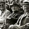 F2332<br /> Drie van de organisatoren van de Oranjefeesten. V.l.n.r.: J. Kapiteijn, C.J. Melman en M. van Breda.