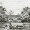 F2148<br /> Huis Ter Wegen in 1855 naar een litho van P.J. Lutgers. Het stond aan de Hoofdstraat ter hoogte van de Warmonderdam. Het landgoed werd na verkoop omstreeks 1895 gesloopt. Zie voor meer informatie Aschpotter nr. 31, pag. 18 en 19
