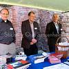 F3166<br /> Vlnr: Piet Langeveld, Gijs Overvliet en Ton van der Wiel in de stand van de SOS in de Ruïne van Teylingen op 14 oktober 2007 tijdens activiteiten in het kader van de Week van de Geschiedenis.