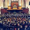 F0330 <br /> Opname van het concert t.g.v. het 40-jarig jubileum door de chr. oratoriumvereniging Com nu met Sangh in de gereformeerde kerk (Julianakerk). Uitgevoerd werd het oratorium Paulus van F. Mendelssohn-Bartholdy. Foto: 1995.