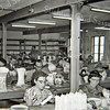 F3042<br /> De schilderzaal van aardewerkfabriek Velsen aan de Kerklaan in 1956.