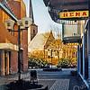 F0490a <br /> De Passage, het straatje tussen de Hema en de toenmalige winkel van Melman (damesmode), gezien richting de Hoofdstraat. Foto: 1999.