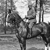F3974<br /> Deze foto is gemaakt tijdens de mobilisatie in 1938 of 1939. We zien Theo Lindaard uit de Meidoornlaan, die diende bij de cavalerie hier op zijn paard. Foto: 1938