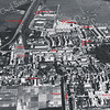 F3379<br /> Een luchtfoto van Sassenheim. De Teijlingerlaan beneden tot Industriekade boven. Zie aanwijzigingen op de foto.<br /> Foto: eind jaren '50