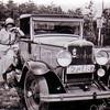 F3438<br /> Deborah Geertruida Philippo–Schuilenburg, de vrouw van Jan Philippo (1908) zij poseert hier voor hun prachtige Chevrolet uit 1930