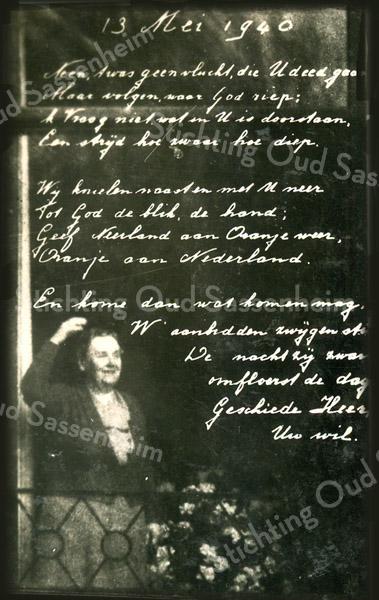 F3993<br /> Een boodschap van koningin Wilhelmina. Foto: 12 mei 1940