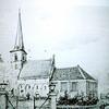 F1527 <br /> Een foto van een pentekening van de Ned.-hervormde kerk te Sassenheim.