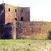F0552 <br /> De ruïne van Teylingen. Het is duidelijk te zien, dat de ruïne als bouwwerk geconserveerd is. Dit is gebeurd door M.J. van Breda & Zn. De waterburcht, een verdedigingswerk uit het begin van de 13de eeuw, heeft een donjon en een ringmuur van 37 m doorsnee. Na het geslacht Van Teylingen kwam het slot aan de graven van Holland. Het is diverse keren verwoest en herbouwd, maar na de brand van 1676 is het een ruïne gebleven. De ruïne is te bezichtigen. Foto: voorjaar 1995.