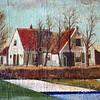 F3419<br /> Een schilderij van de Oude Hortus door ?