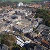 F3739<br /> Een luchtfoto van het centrum van Sassenheim. Linksonder is de spits van de toren van de Dorpskerk te zien.