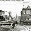 F2795<br /> De tram rijdt ter hoogte van villa Transforma. Foto: 1950