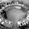 F4075 <br /> Start van de Algemene Raad. Foto: 1994