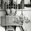 F0131 <br /> Het Goltfusz-orgel uit 1657 van de voormalige Gasthuiskerk te Delft. Na de restauratie van de Ned- herv. kerk (Dorpskerk) daar geplaatst. De dispositie van het orgel wordt vermeld in de informatiegids van de hervormde gemeente van 1996.  Foto: 1975.
