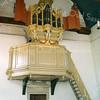 F2439<br /> Het Goltfusz-orgel uit 1657 van de voormalige Gasthuiskerk te Delft. Na de restauratie van de Ned.-herv. kerk (Dorpskerk) is het daar in 1975 geplaatst.  Foto: 1976.