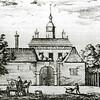 F2157<br /> De achterzijde van kasteel Oud Alkemade, naar een gravure uit de 17de eeuw. Dit kasteel stond ongeveer in het verlengde van de Wasbeekerlaan, op Warmonds grondgebied. Zie ook het 'Stratenboek van Sassenheim'  pag. 327/328.