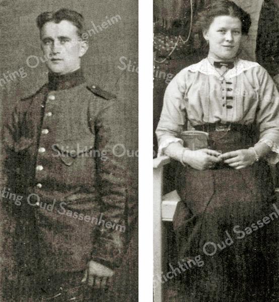 F2281<br /> Arnoldus van Rijn en zijn vrouw Josephina Weijers. Zij woonden in de Kerklaan 45.