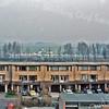 F3845<br /> De aanlegvan de Schiphollijn in 1979 (activiteit achter de huizen). De woningen langs de Kagerdreef zijn intussen grotendeels van een opbouw voorzien.