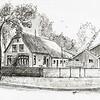 F3299<br /> Pentekening van de Annahoeve aan de Menneweg, gemaakt door Hans Roest.