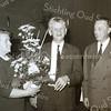 F3512<br /> Jubileum bij Bulbhorst. Dhr. P. van Nobelen en zijn vrouw worden gehuldigd. Naast hem staat Bou Arentshorst. Foto: 1968