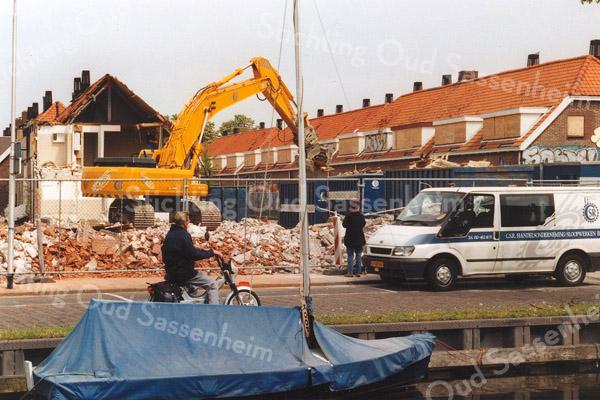 F1109a <br /> De sloop van de Hein Baderstraat. Op de voorgrond de Zandslootkade. Foto: 2006.
