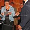 F1898a <br /> De presentatie van het boek Casper J. Verlint in het Sikkens Experience Center. Mevr. H. Dols-Verlint krijgt het boek overhandigd. Op de achtergrond Gijs Overvliet en Gerard Rutgrink.  Foto: 25 oktober 2008.