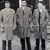 F3887<br /> Vlnr: Arnold van Rijn, Jan Molkenboer en Jan van der Geest. Foto: Leiden 1959