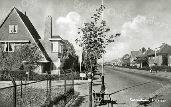 F3326<br /> De Parklaan ruim 50 jaar geleden kort na de aanleg van deze laan. In de hoekwoning woonde vroeger de fam. v.d. Zee.