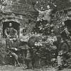 F3481<br /> Militairen (eerste wereldoorlog) in de ruïne van Teijlingen. Foto: ca 1914