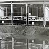 F3198<br /> Het Rijnlands Lyceum in het 'moeras' . Foto: april 1977.<br /> Collectie C. Pieterse.