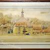 F3748<br /> Een kleurentekening van het oude gemeentehuis van Sassenheim, nu Sikkens Experience Center.