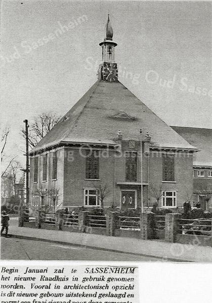 F1185a <br /> De opening van het nieuwe raadhuis (later Sikkens Museum en daarna Sikkens Experience Centre) op 17 januari 1930 door de Commissaris der Koningin in de Provincie Zuid-Holland.