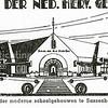 F2361<br /> Het logo van de School der Ned.Herv.Gemeente (later Kompasschool) aan de Jacoba van Beierenlaan. Het gebouw in Amsterdamse stijl werd in 1930 gebouwd.