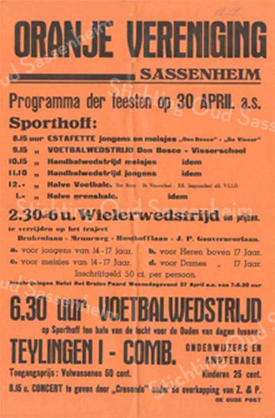 F2801<br /> Poster van de Oranjevereniging Sassenheim.