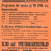 F2801<br /> Poster van de Oranjevereniging Sassenheim, ter gelegenheid van Koninginnedag in 1949. Het was toen voor de eerste keer dat Koninginnedag op 30 april gevierd werd. Een deel van de activiteiten werd gehouden op het gemeentelijk sportterrein Sporthoff, dat bereikbaar was vanaf de Rusthofflaan. De originele poster aanwezig in  SOS-archief.