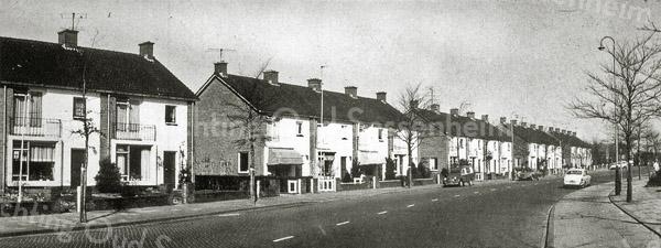 F0535 <br /> Huizen langs de Parklaan (westzijde), gezien in noordelijke richting vanaf het kruispunt met de Kerklaan. Op de achtergrond is nog net het laatste huis aan de Molenstraat te zien. Foto: jaren '60.