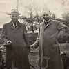 F4567<br /> Dhr. Hubers (rechts) en dhr. Schram. Foto: ca 1950.