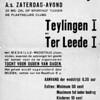 F2800<br /> Poster van de voetbalwedstrijd Teylingen I tegen Ter Leede I.