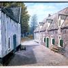 F0357 <br /> Foto van een schilderij van J. Hogewoning van de boerderij van André Foto van een schilderij van J. Hogewoning van de boerderij van André Oskam in Ter Leede. De boerderij is geschilderd in 1965 en had toen nog een rieten dak. Thans is het dak bekleed met plastic in afwachting van een grondige renovatie. Ook de wagenschuur links is niet meer zoals op de foto, maar is veranderd in een woonhuis. Foto: 1965