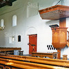 F2440<br /> De preekstoel in de Ned.-herv. kerk (Dorpskerk)  Foto: 1976.
