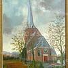F1581 <br /> Een schilderij van de Ned.-herv. kerk of Dorpskerk, gemaakt door bakker L. van Vliet. Het schilderij is in bezit van Peter Vis, Essenlaan 14. Foto: jaren '30.