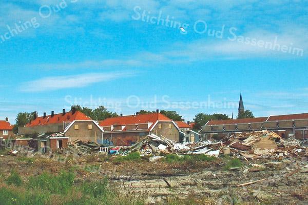 F2033<br /> De sloop van de huizen in de Oranjebuurt. Foto: 2006
