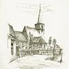 F3909<br /> Een pentekening van de Nederlands-hervormde kerk te Sassenheim door Leo K. Zeldenrust.