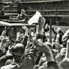 F1089 <br /> Foto van de intocht van de bevrijders in mei 1945.
