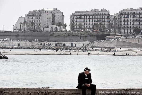 ALGERIE. ALGER.  La plage El Kettani à Bab El Oued