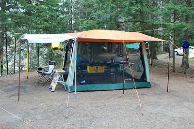 Kitchen Shelter at the campsite, Mew Lake, Algonquin Park